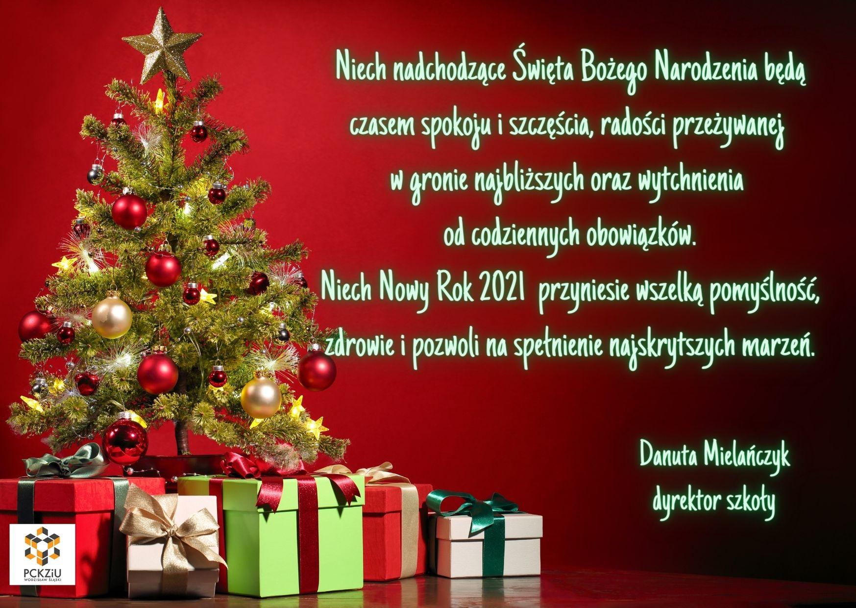 Życzenia świąteczne od Dyrektorki
