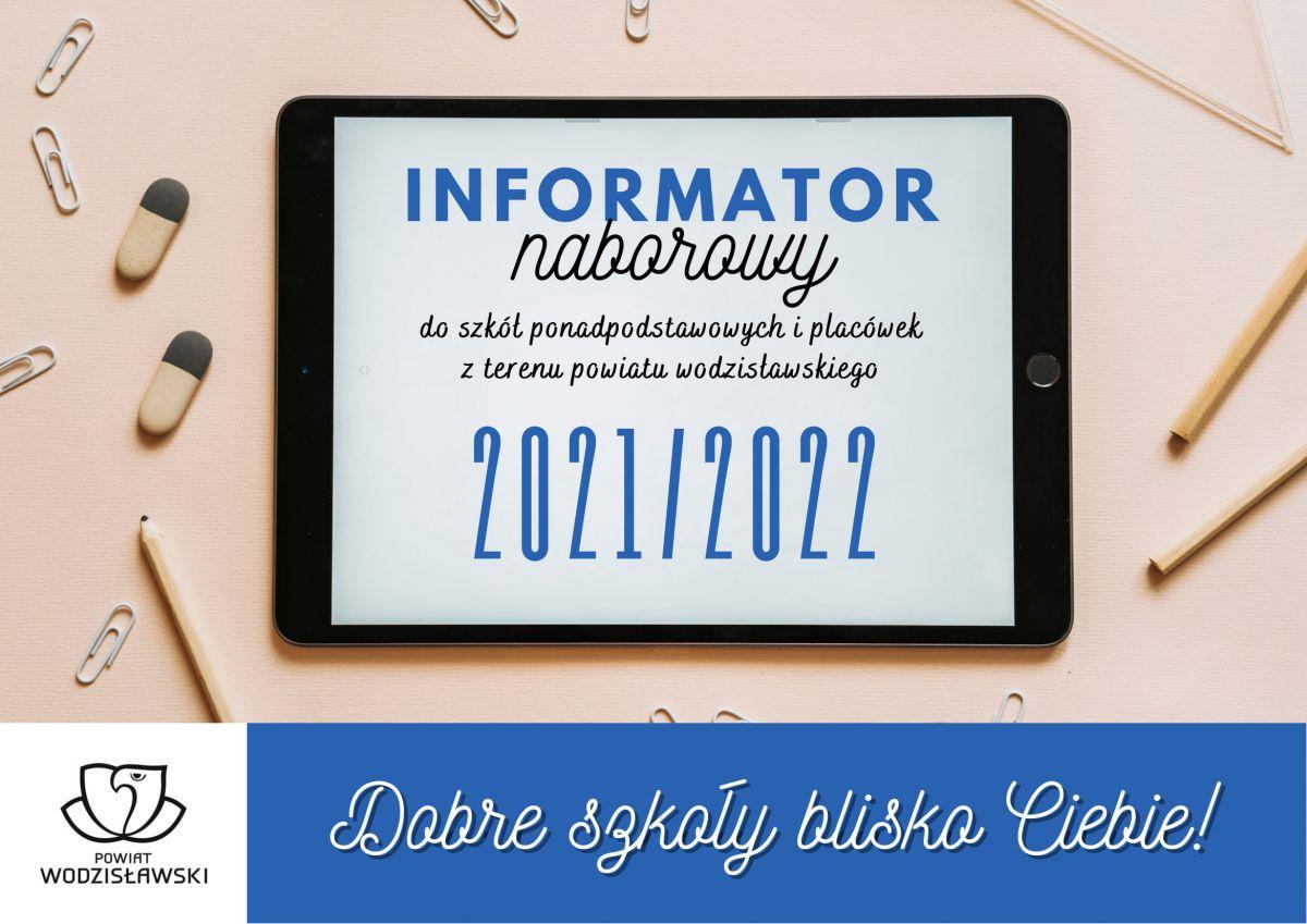 Fotografia przedstawiająca okładkę aktualnego (2021-2022) informatora naborowego do szkół powiatu wodzisławskiego