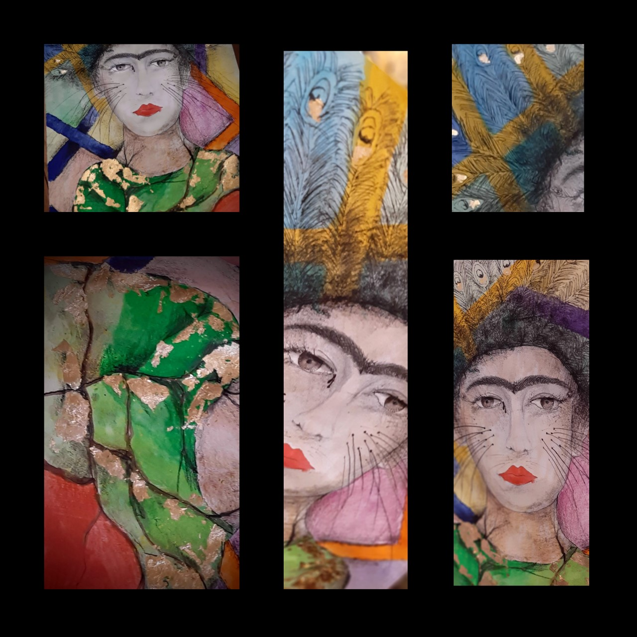 """Obraz Marka Gałeckiego na konkurs """"Spojrzenie własnym okiem, okiem artysty Fridy Kahlo"""""""